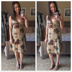 {BCBGMaxAzria} Hawaiian print dress